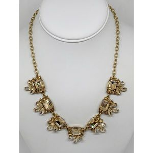 J. Crew Champagne Crystal Necklace